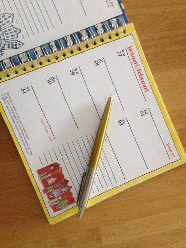 Nieuwe afspraken maken en meteen ook maar mijn agenda bijwerken. Soms is papier niet te vervangen.