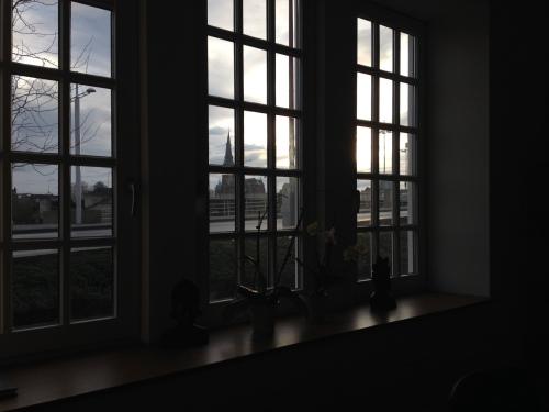 Ook het uitzicht aan de voorkant van kantoor blijft boeien.