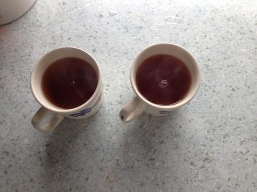 Elke ochtend begint met thee, geen andere drank mogelijk.