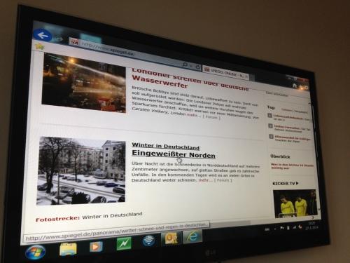 Meteen beginnen met Duitse les, het weer bij onze oosterburen is ook een krantenbericht waard.