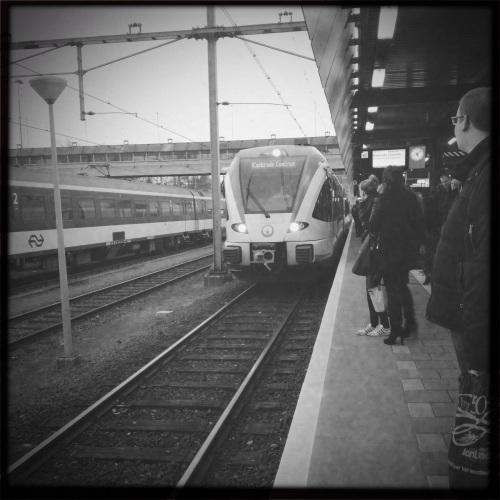De trein eerder liet verstek gaan, proppen. Leven op het randje