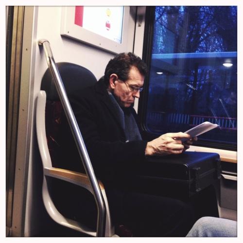 Man @ work in de trein...mijn ogen vallen dicht