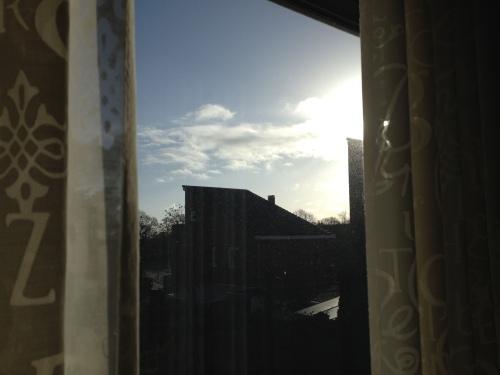 Zonnige woensdag, licht maakt me blij.