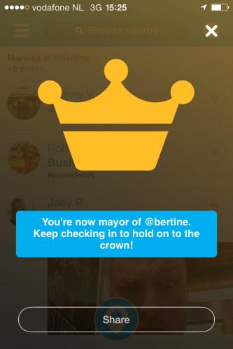 Twee mayorships op een dag...must be my lucky day