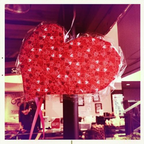 Ook hier zijn de harten goed vertegenwoordigd. je kunt er echt niet omheen, Valentijn heeft ons stevig in zijn greep.