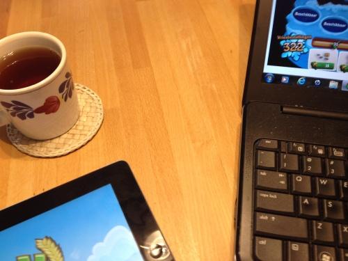 Volop tijd voor laptop, i-pad, thee