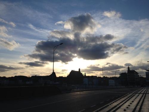Dan is de dag alweer om...Maastricht straalt me toe.