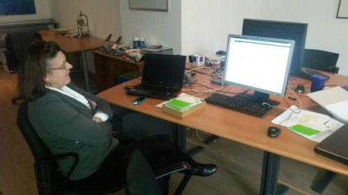 Telefonische ondersteuning bij de installatie. Martijn de technische kennis..ik de Duitse