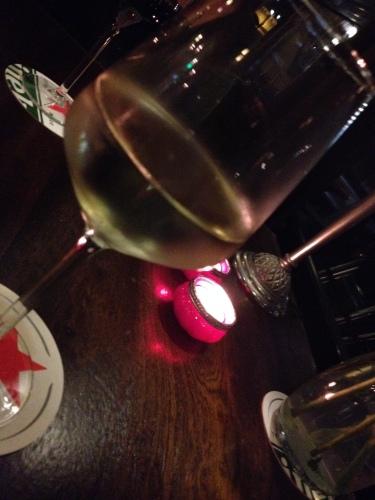 De avond in met wijn en The Beatles