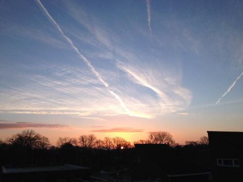 Kijken naar de opkomende zon. Even mijn ergernissen vergeten .
