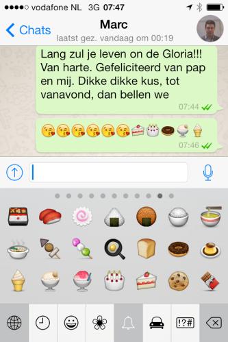 Vandaag 29 jaar geleden werd onze oudste geboren. De eerste felicitaties via whatsapp...zodat we hem niet wakker bellen..:)