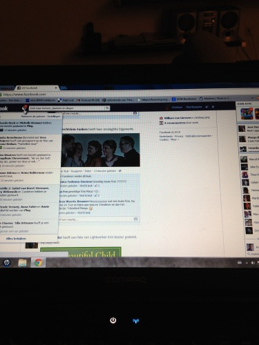 Avond, facebook en plog. Dag, dag...tot morgen!