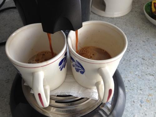 Koffie voor de broodnodige warmte.