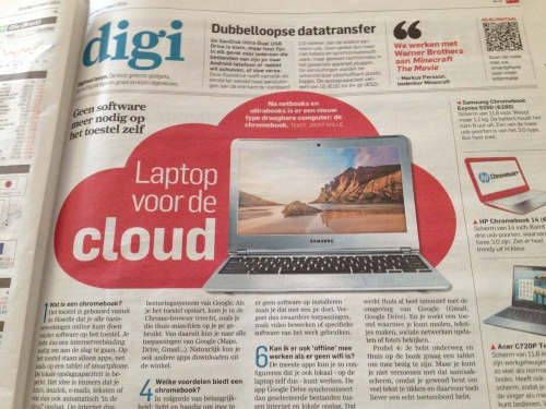 Een lichter onderwerp. Een chromebook voor de cloud...word ik hebberig van.