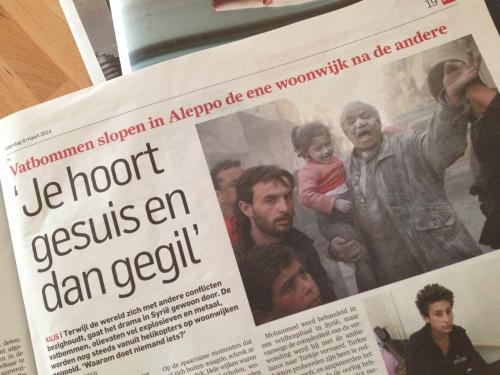 We zouden het bijna vergeten, maar in Syrië sterven nog steeds dagelijks mensen.