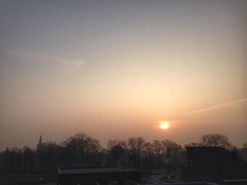 Het was een prachtige zonopkomst vanochtend.