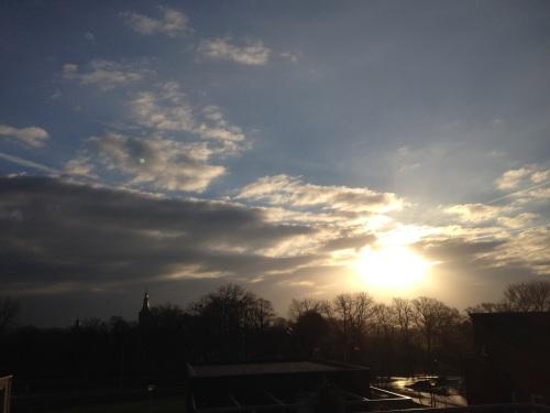 Goedemorgen Kerkrade, vandaag geen straat, geen huis, maar een zonsopgang die weer adembenemd was