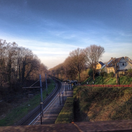 Station Chevremont van bovanaf gezien...