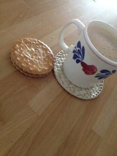 We stopen alleen  voor koffie met of zonder koekje...