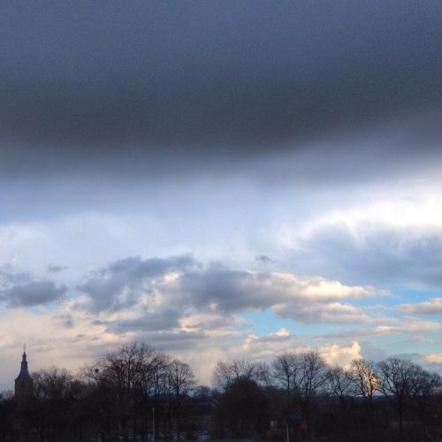 en maak ik toch nog een foto van mijn favoriete uitzicht. Hoofd in de wolken zoals gewoonlijk