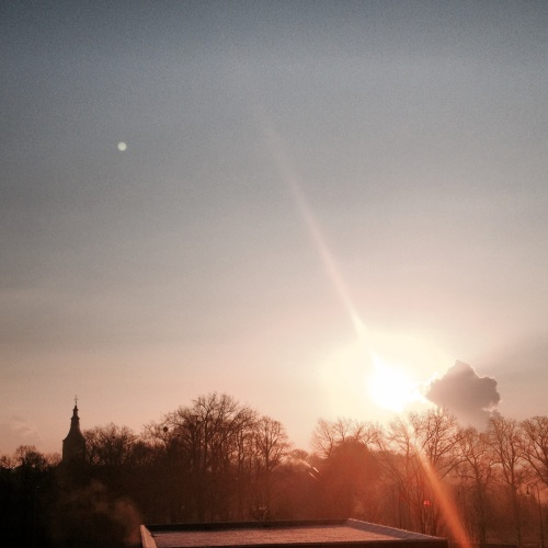 Zo kwam de zon op vanochtend, ....stralend
