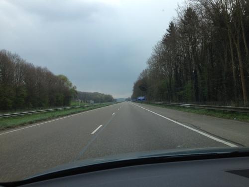 Nog een voordeel van wonen in Limburg, geen files. Je waant je alleen op de wereld.
