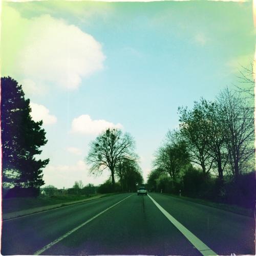 Ook hier is het rustig op de weg...karren maar