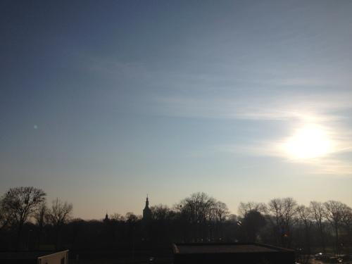 Zonsopgang was weer fraai...hetzelfde uitzicht en toch elke dag anders.