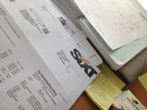 Mijn dag gaat op in facturen invoeren, brieven sturen en nog meer interessante zaken