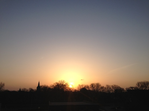 Zonsopgang...weergaloos mooi, zoals gewoonlijk.