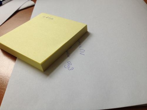 terug op kantoor, brieven schrijven