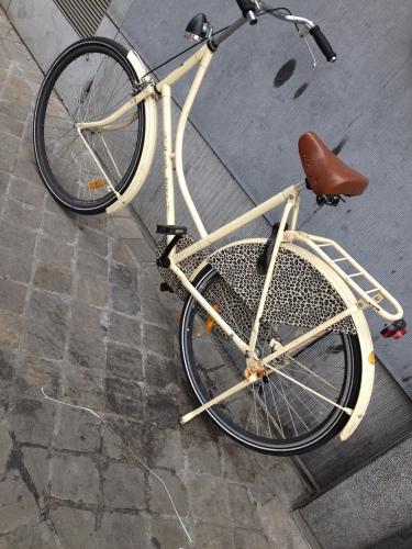 Op naar het postkantoor...hah! een fiets met tijgerprint