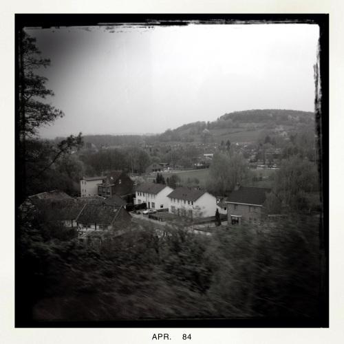 Het heuvelland blijt ook in zwart wit mooi.