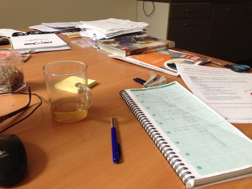 Aan het einde van de dag is mijn bureau grotendeels leeg...check!