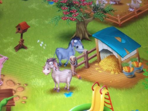 Speel Hay Day, de ezels zijn mijn favoriete dieren.