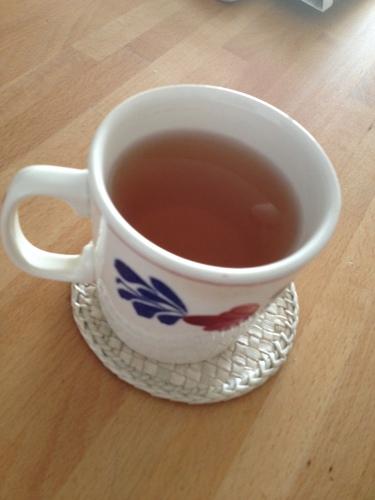 Geen haast en veel thee.