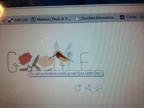 Google doet ook mee met Earth Day