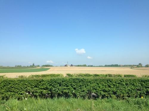 Even later ben ik mijn boosheid alweer kwijt als ik geniet van het landschap en de blauwe lucht