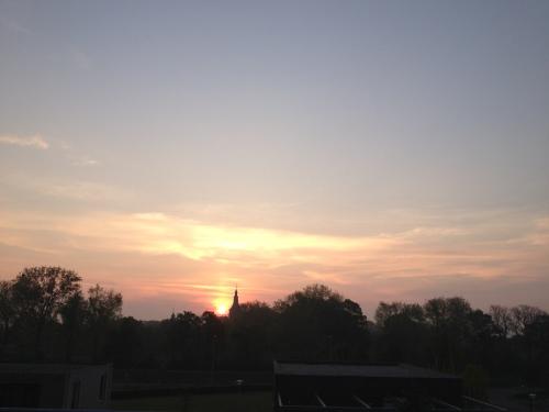 en bij de laatste is de zon eindelijk helemaal verschenen. Tussen de eerste en de laatste zitten er nog 17. Ik zei toch, veel te veel foto´s vandaag