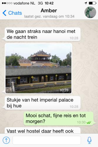 Dagelijkse appje uit Vietnam.