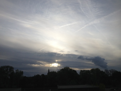 Goedemorgen zon, blijf je hangen vandaag?