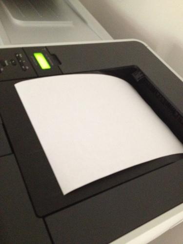 De werkdag beginnen met printen
