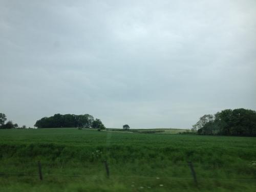 De heuvels van de andere kant gezien.