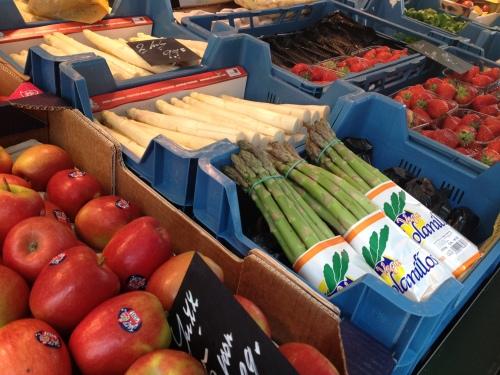 Fruit kopen op de markt.