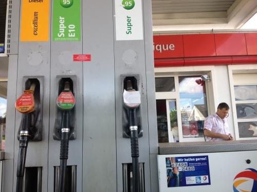 ..maar de benzine was op.