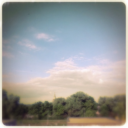 weer thuis,was ophangen en van het uitzicht genieten.