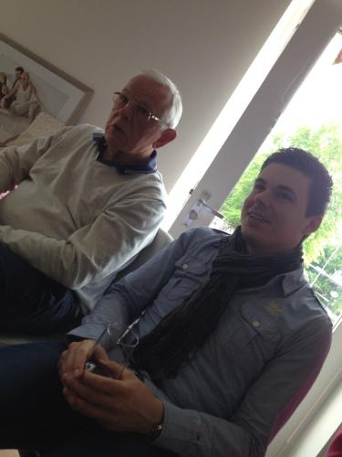 Vader en oudste zoon