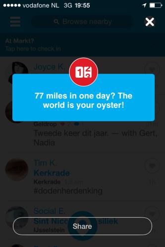 Goed bezig volgens Foursquare
