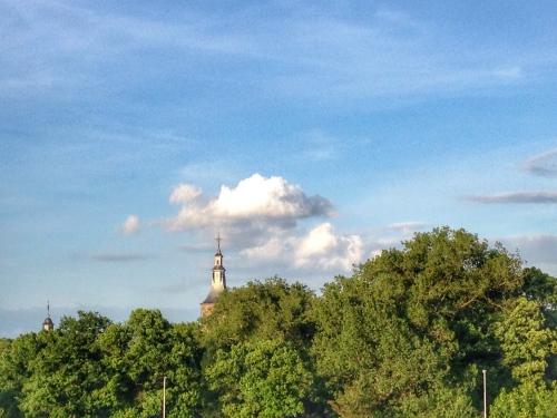 en maak nog een keer een foto van de lucht boven Rolduc. Ik ben klaar voor vandaag. Dag dag, tot morgen