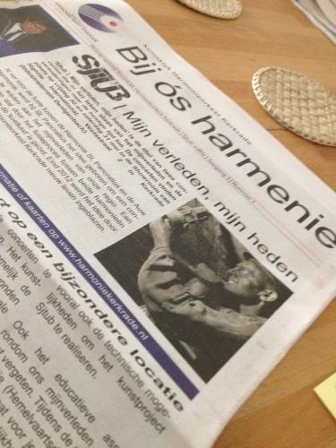 Een extra krant vandaag..er staan mooie dingen op het programma.